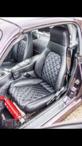 BLACK LEATHER CAR SEATS