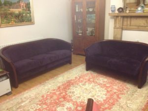 PURPLE SOFA FABRIC