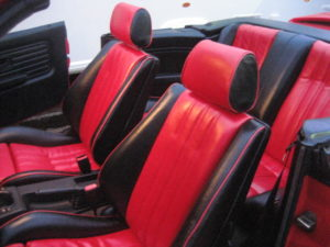 RED LEATHER BMW UPHOLSTERY