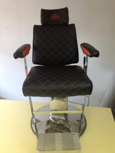 BARBER CHAIR UPHOLSTERY