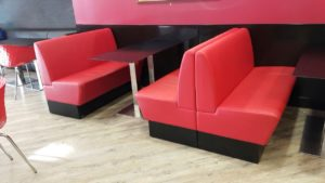 RED RESTAURANT SEATING