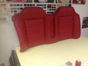 RED LEATHER VEHICLE TRIM